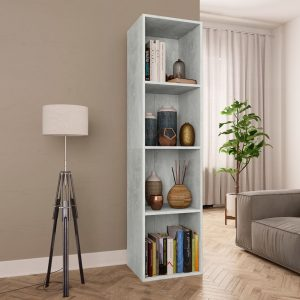 143cm Book Cabinet - Concrete Grey