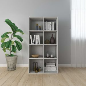 130cm Book Cabinet - Concrete Grey