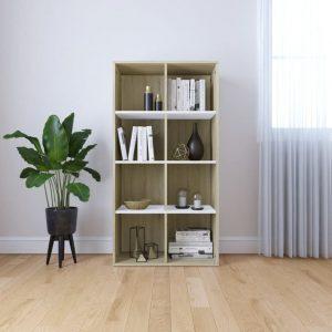 130cm Book Cabinet - White & Sonoma