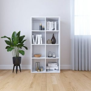 130cm Book Cabinet - High Gloss White