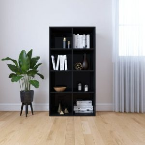 130cm Book Cabinet - High Gloss Black