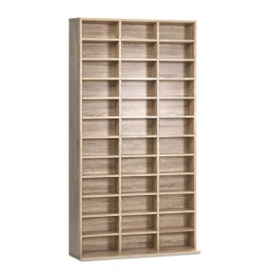 1116 CD Storage Shelf Rack Unit - Oak