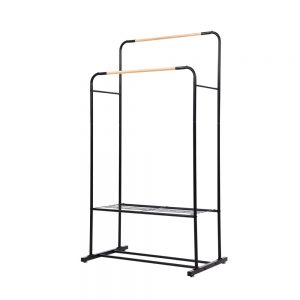Metal Clothes Rack - Black