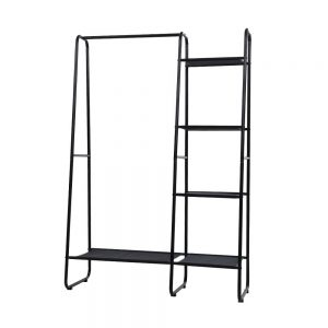 Large Metal Clothes Rack - Black