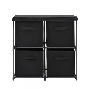 4 Cubes Storage Cabinet - Black