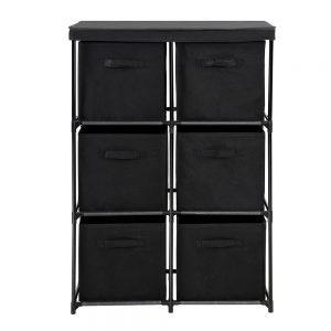6 Cubes Storage Cabinet - Black