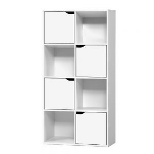 8 Cube Display Shelf - White