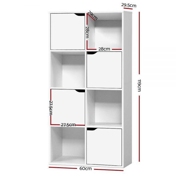 8 Cube Display Shelf - White