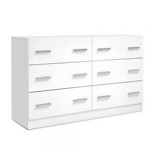 6 drawer Lowboy - White