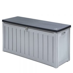 240L Outdoor Storage Box - Black & Grey