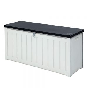 240L Outdoor Storage Box - Black & White