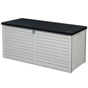 490L Outdoor Storage Box - Black & White