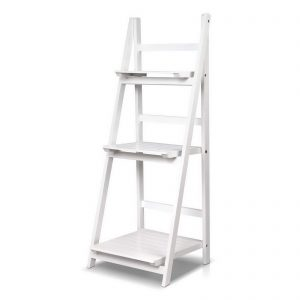 3 Tier Ladder Shelf - White