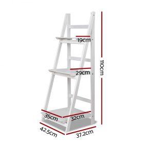 3 Tier Ladder Shelf - White