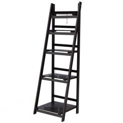 5 Tier Ladder Shelf - Coffee