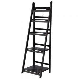 5 Tier Ladder Shelf - Coffee