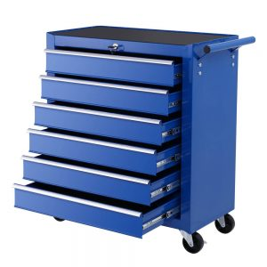 6 Drawer Tool Trolley - Blue