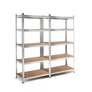 2×0.9m 5-Tier Garage Shelving Unit – Silver