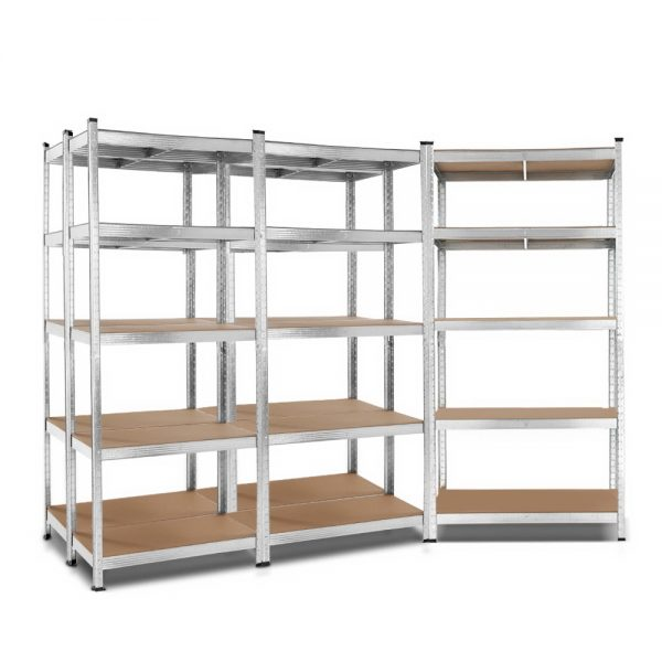 5×0.9m 5-Tier Garage Shelving Unit – Silver