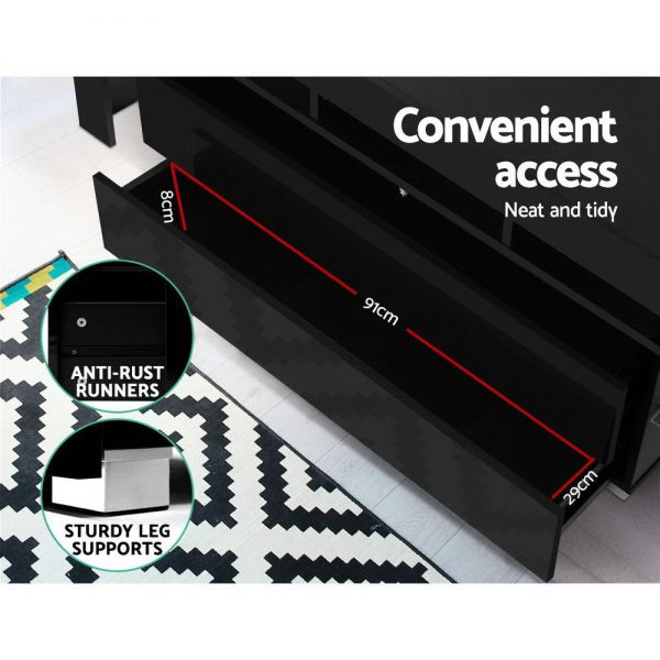 160cm Entertainment Unit - Black