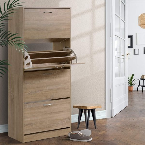 60 Pair Shoe Cabinet - Wood