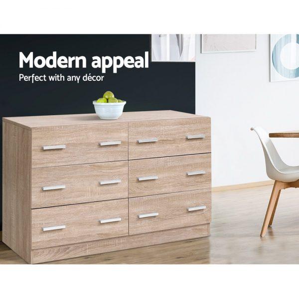 6 Drawer Dresser - Wood