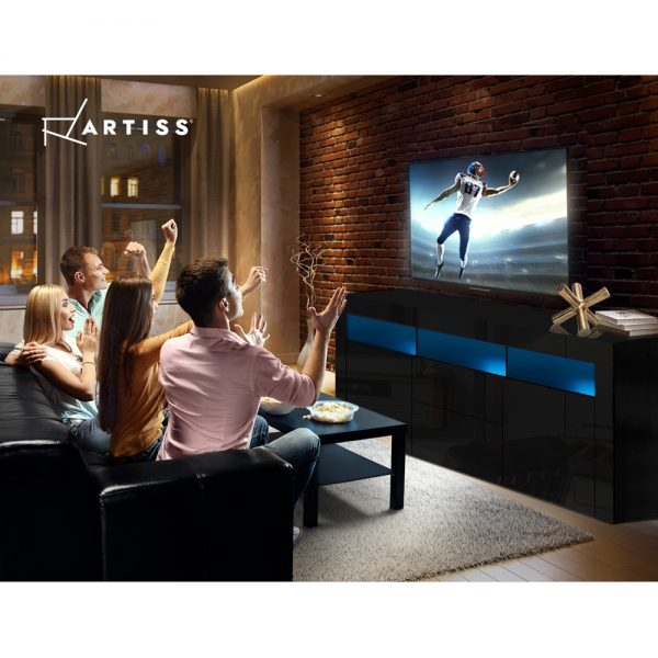 160cm Entertainment Unit - Black