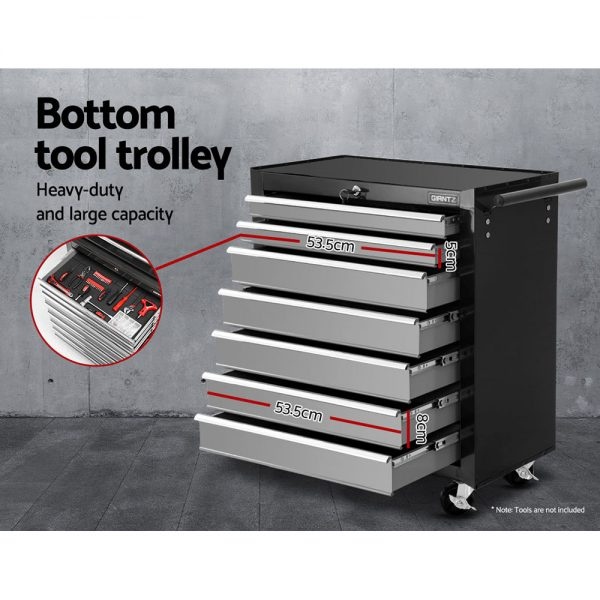 17 Drawer Tool Chest & Trolley - Black & Grey