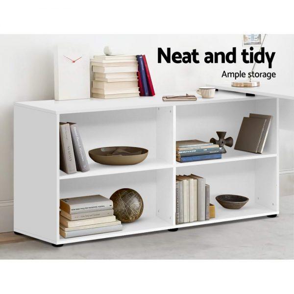 Multi-functional Study / Home Office Desk - White